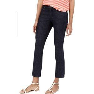 Ann Taylor Dark Wash Kick Crop Jeans